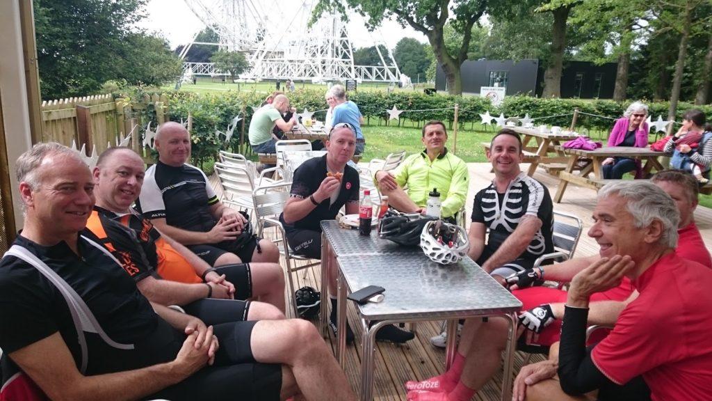 Inters group enjoying a coffee at Jodrell Bank