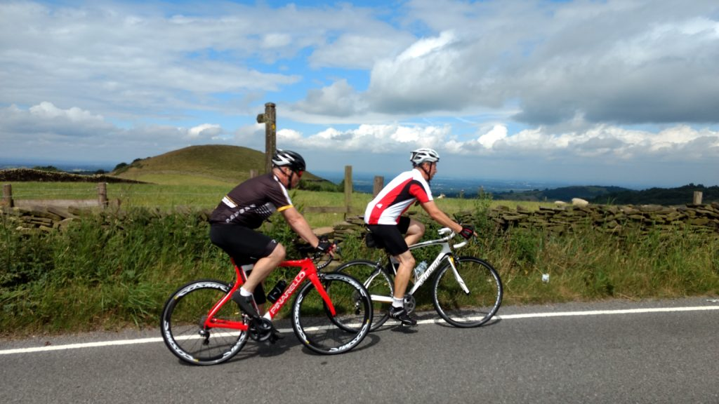 Gary and Steve on the Inters Bollington ride