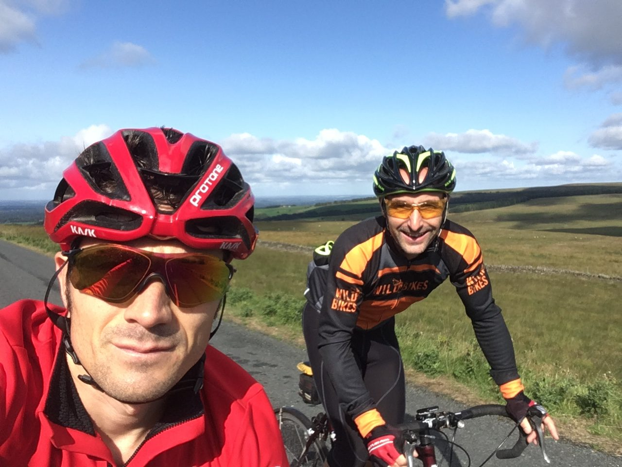 Matt & Ben enjoying a sunny ride of Winter Hill
